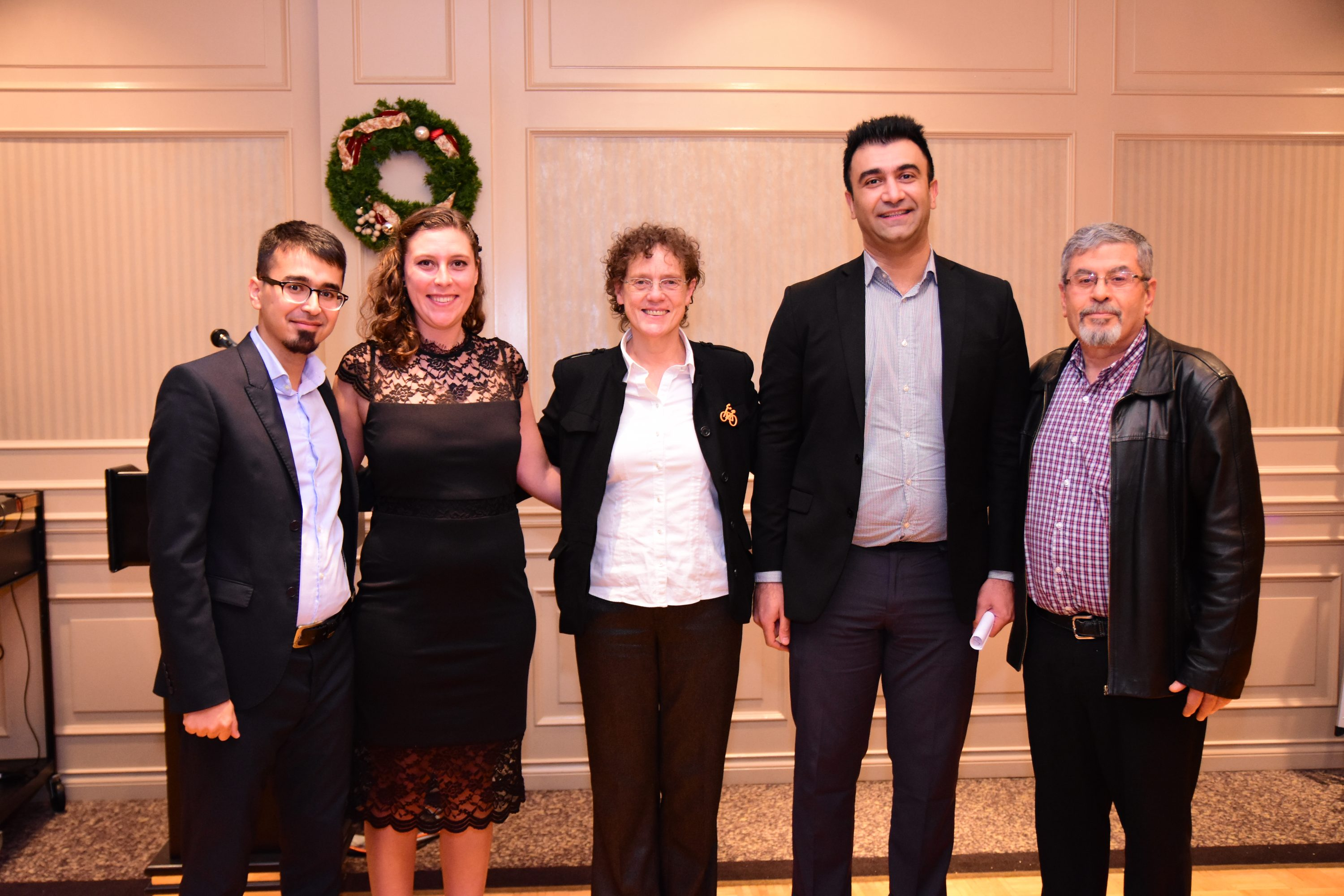 MEL and MHLP Graduation Gala: MEL in Integrated Water Management Graduates with Program Co-Directors Dr. Sue Baldwin and Dr. Ziad Shawwash