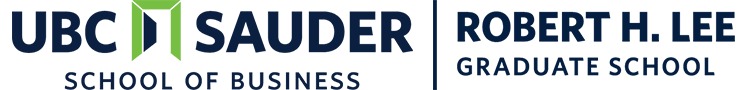 UBC Sauder School of Business Robert H Lee Logo